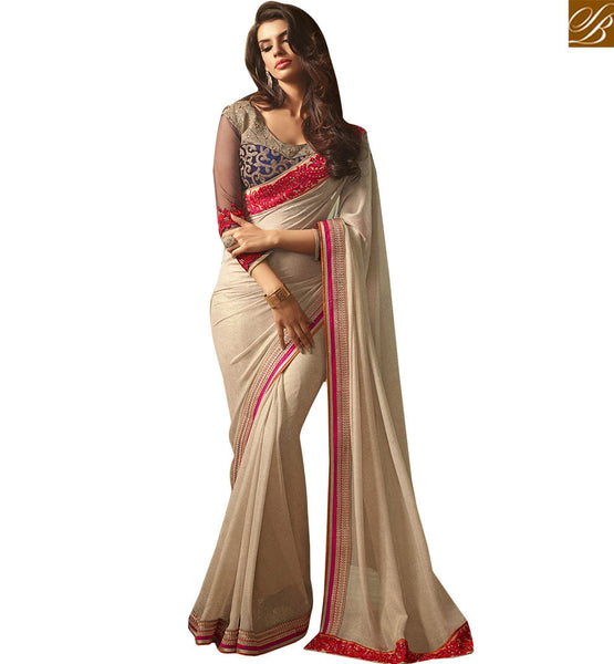 STYLISH BAZAAR INTRODUCES ADMIRABLE PARTY WEAR SARI DESIGN RTSSC14006