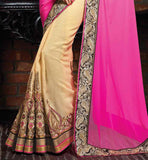 FASHIONABLE HEAVY EMBROIDERY PARTY WEAR SAREE WITH STYLISH BLOUSE