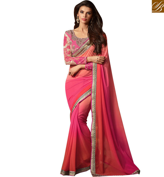 STYLISH BAZAAR PRESENTS DAZZLING DESIGNER PARTY WEAR SARI RTSSC14008