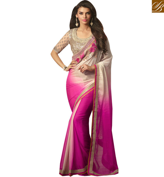 EXCELLENT DESIGNER SAREE DESIGN FOR PARTIES RTSSC14011 BY STYLISH BAZAAR