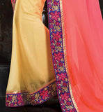 2015 DESIGN ONLINE PARTY WEAR SAREES EMBROIDRED PALLU DUPION BLOUSE