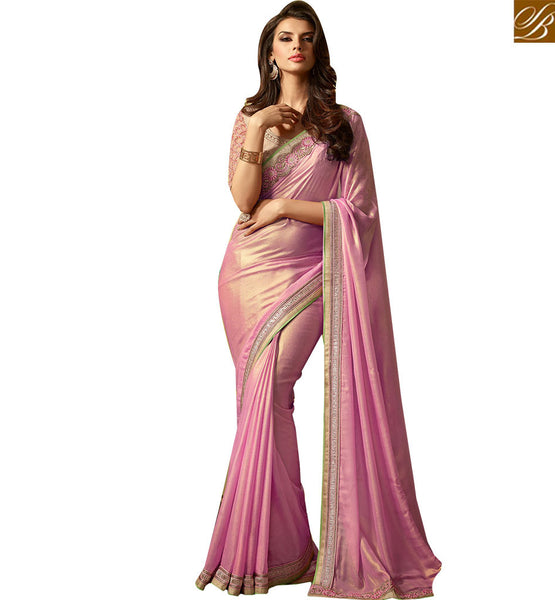 STYLISH BAZAAR FASCINATING PARTY WEAR SARI DESIGN RTSSC14012