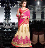 MARVELOUS WEDDING WEAR HEAVY EMBROIDERED LEHENGA SAREE DESIGNS