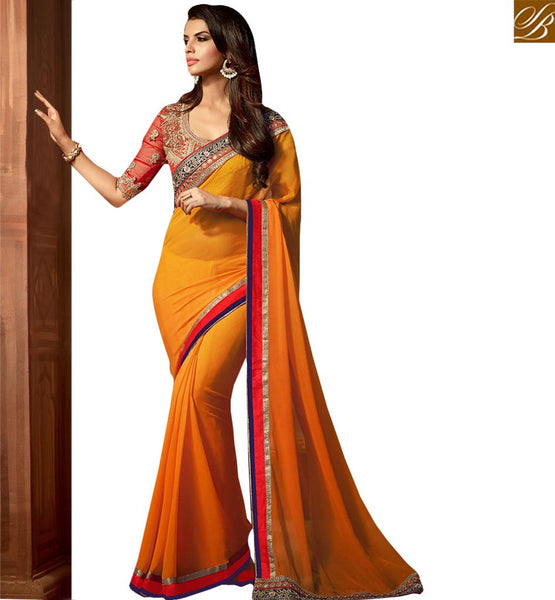 STYLISH BAZAAR LOVELY DESIGNER PARTY WEAR SARI RTSSC14014