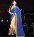 BEAUTIFUL DESIGNER PARTY WEAR HEAVY EMBROIDERED SAREE & BLOUSE