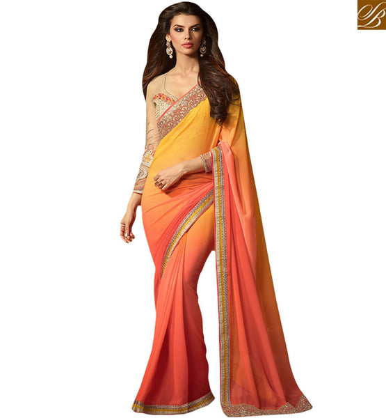 STYLISH BAZAAR PRESENTS WONDERFUL DESIGNER SAREE DESIGN FOR PARTIES RTSSC14017