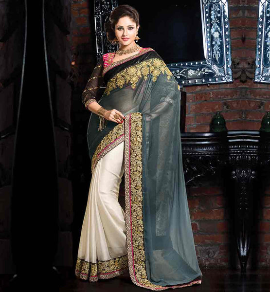 ONLINE SHOPPING STYLISH DESIGNER OCCASION WEAR SAREE BLOUSE DESIGNS