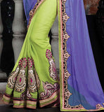 PARTY WEAR SAREES ONLINE SHOPPING SUPERB NET PALLOO & EMBROIDERY