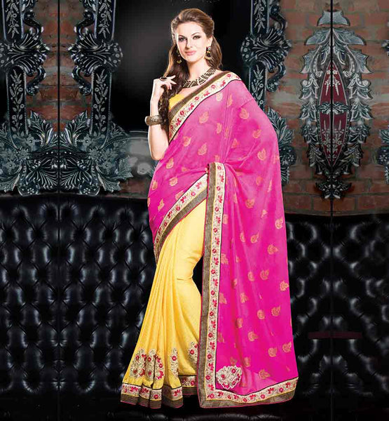 FANCY DESIGNER PARTY WEAR SAREE WITH BEST BUTTA WORK ON PALLU