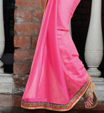 EXCELLENT SAREE DESIGNS WITH LAcE WORK ON THE SKIRT REGION