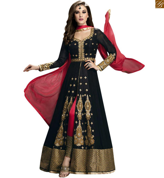 STYLISH BAZAAR WONDERFULLY DESIGNED SILHOUETTE DESIGNER ANARKALI GLZR1404