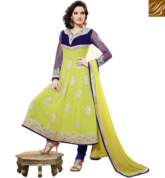 GREEN GEORGETTE ANARKALI SALWAR SUIT RTBR1406