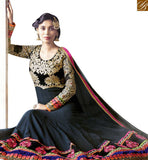 FROM STYLISH BAZAAR MAGNIFICENT BLACK COLOUR HEAVY EMBROIDERED ANARKALI DRESS VDSHZ14113
