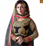 FROM THE HOUSE OF STYLISH BAZAAR MAGNIFICENT BLACK COLOUR HEAVY EMBROIDERED ANARKALI DRESS VDSHZ14113