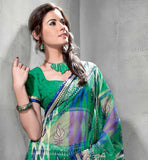 GREEN & BLUE CASUAL SARI RTYOG1423