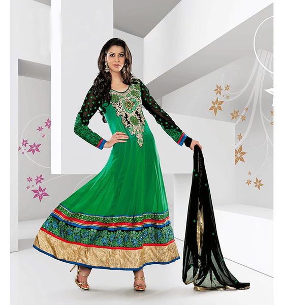OCCASION WEAR GEORGETTE ANARKALI SALWAR KAMEEZ STYLISHBAZAAR ONLINE SHOP