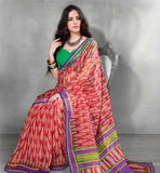 RAVISHING RED CASUAL SARI RTYOG1438