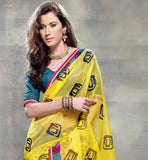 YELLOW & GREY CASUAL SARI RTYOG1441