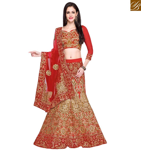 A STYLISH BAZAAR PRESENTATION ATTRACTIVE GHAGHRA CHOLI DESIGNER WEAR RTHOT145