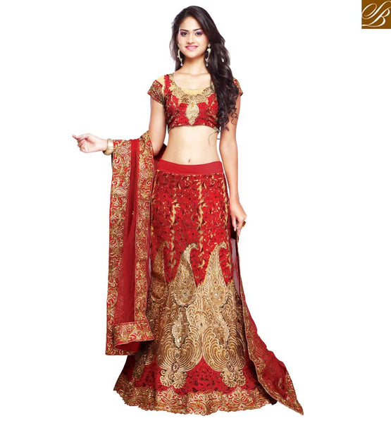 STYLISH BAZAAR DIVINE MAROON WELL DESIGNED GHAGHRA CHOLI DESIGN RTHOT146