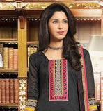 BLACK FORMAL OFFICE WEAR DRESS FOR WOMEN WITH PINK SHALWAR AND DUPATTA