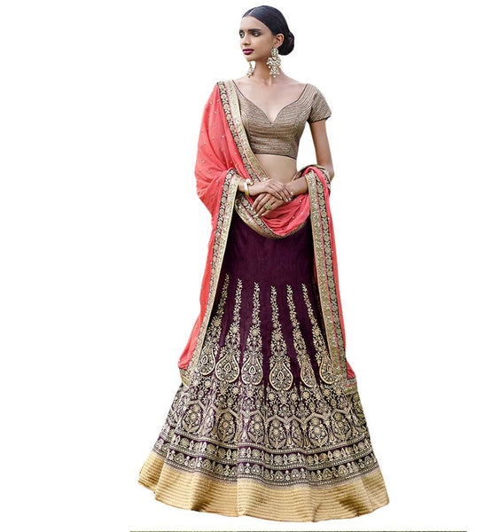 STYLISH BAZAAR WONDERFUL LOOKING DESIGNER BRIDAL GHAGHRA CHOLI NKGR5052