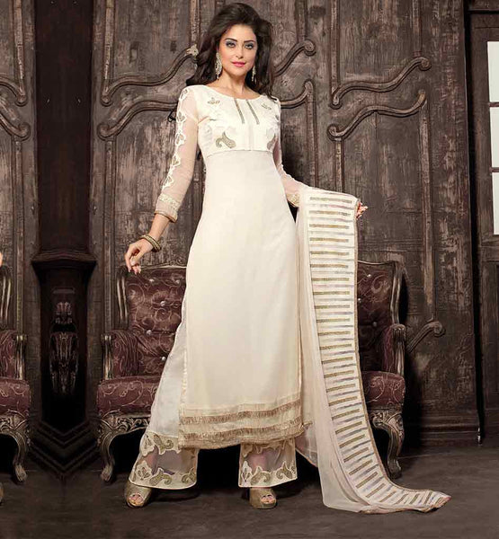 SHALWAR KAMEEZ FOR LADIES INCLUDES ZARI AND RESHAM EMBROIDERY SHALVAR KAMEEZ PAKISTANI GEORGETTE SUIT