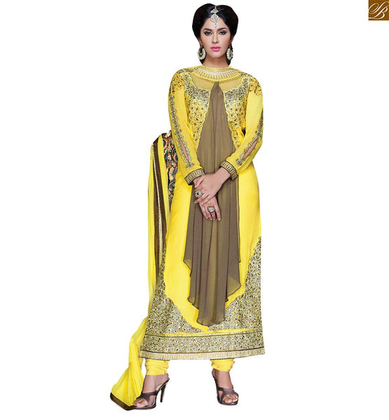 YELLOW NET GEORGETTE HEAVY ZARI AND STONE WORK DEESIGNER SALWAR KAMEEZ RTVAI15001
