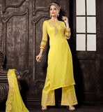 LATEST FASHION YELLOW NECK DESIGN FOR KAMEEZ THIS SENSIBLE SALWAR STYLE IS VERY POPULAR BECAUSE IT GIVES CLASSY LOOK MOREOVER THE SALWAR KAMEEZ MATERIAL IS VERY LIGHT WEIGHT