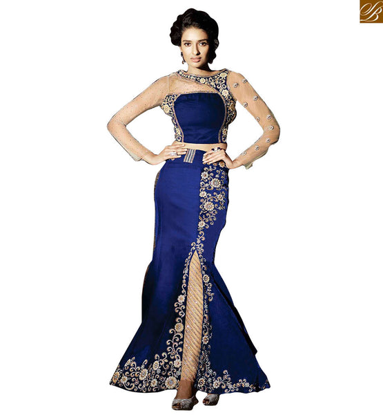 BROUGHT TO YOU BY STYLISH BAZAAR ZOYA FEELINGS DESIGNER FASHIONBLE SLIT CUT LONG STRAIGHT CUT DRESS  PFFL15003