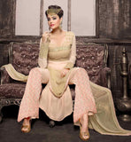 CREAMY LATEST SALWAR KAMEEZ DESIGN 2015 SALWAR KAMEEZ MATERIAL IS GEORGETTE AND THIS OFFER IS THE BEST IN SALWAR KAMEEZ ONLINE SHOPPING