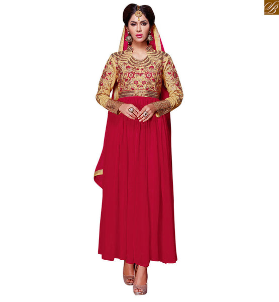 HEAVY ZARI, RESHAM EMBROIDERY ON A PINK COLOURED SALWAR KAMEEZ RTVAI15005