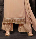 THIS SIMPLE KAMEEZ DESIGN LOOKS GOOD ON ANYONE CREAMY EMBROIDERED SALWAR KAMEEZ WITH DUPATTA