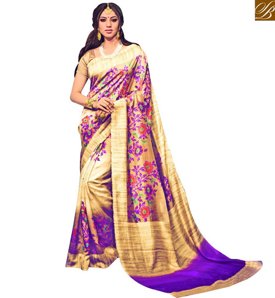 EXQUISITE FLOWERY PATTERNED DESIGNER SAREE RTMLD1502A BY BEIGE