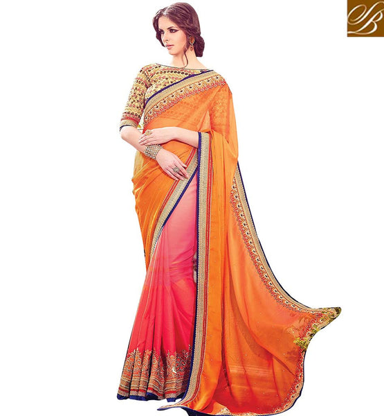 AMAZING EMBROIDERED DESIGNER SARI RTBLS1502