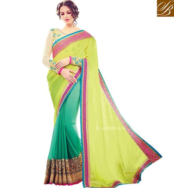 STYLISH BAZAAR PRESENTS CAPTIVATING HALF AND HALF SARI FOR SPECIAL OCCASIONS RTBLST1506
