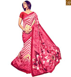 MAGNIFICENT DESIGNER PRINTED SAREE DESIGN RTMLD1507B PINK