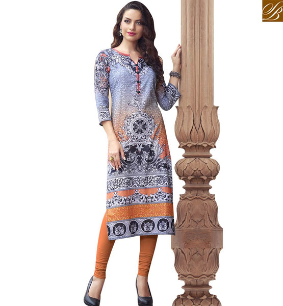 STYLISH BAZAAR SUPERB MULTI COLOR COTTON LONG DESIGNER KURTI WITH DIGITAL PRINT RTBNT1510