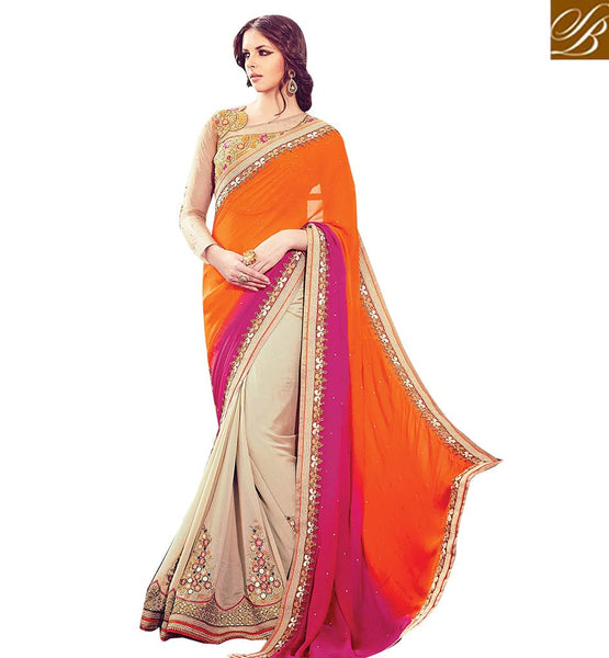STYLISH BAZAAR EXTRAORDINARILY DESIGNED SAREE FOR WEDDINGS RTBLST15010