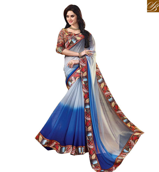 A STYLISH BAZAAR PRESENTATION CHARMING CAUSAL WEAR SARI BLOUSE DESIGN RTDIL15115