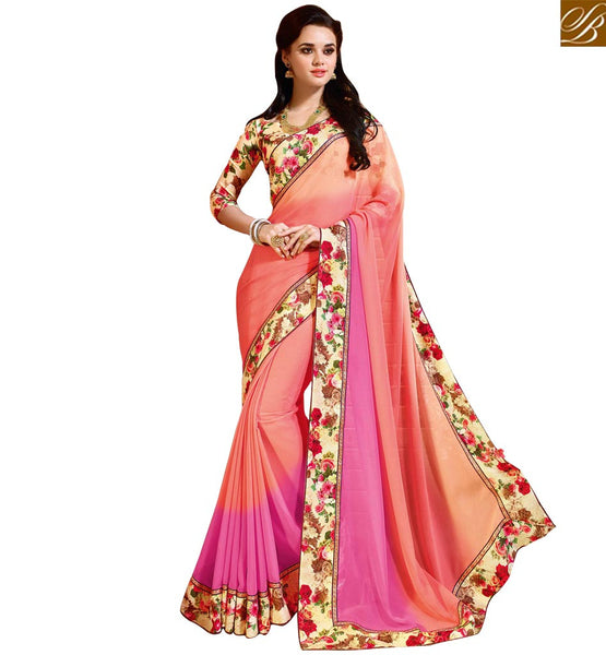 A STYLISH BAZAAR PRESENTATION EYE CATCHING FLORID BORDER WORK SAREE BLOUSE DESIGN RTDIL15117