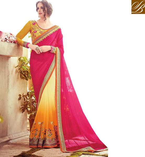 STYLISH BAZAAR INTRODUCES EXTREMELY WELL DESIGNED WEDDING WEAR SARI RTBLST15011