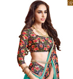 STYLISH BAZAAR INTRODUCES LOVELY FLORAL PRINT BLOUSE AND SAREE BORDER RTDIL15122