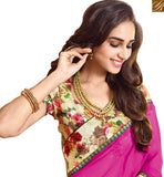 A STYLISH BAZAAR PRESENTATION MAJESTIC FANCY FLOWER PRINT SARI BLOUSE RTDIL15129