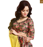 STYLISH BAZAAR IMPRESSIVE DECORATIVE FLOWERY PRINT SAREE AND BLOUSE RTDIL15130