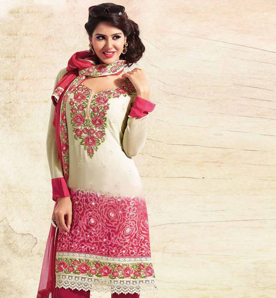 SHADED PURE GEORGETTE DRESS MATERIAL RTUNI1524