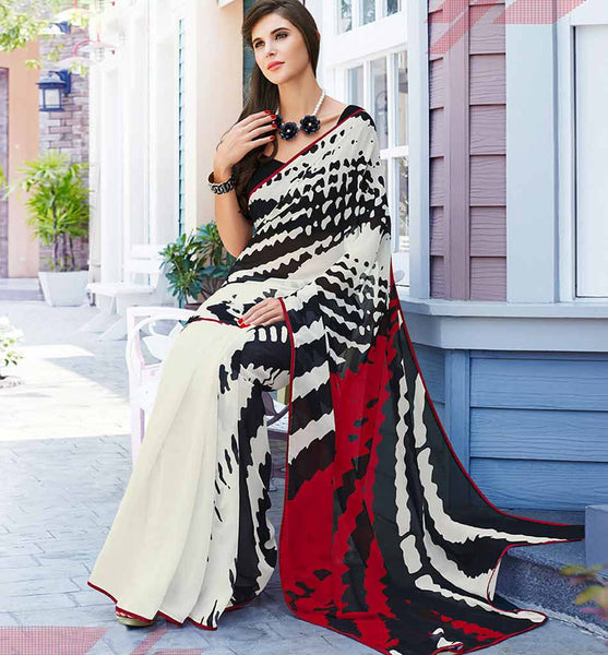 ATTRACTIVE ABSTRACT PRINTED CASUAL WEAR SAREE RTS31527A  - Stylishbazaar - buy Casual sarees online, buy online casual sarees, indian sarees buy online, buy casual sarees online india, Casual saree buy online, indian Casual saree buy online