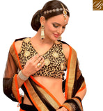 ALLURING ORANGE WEDDING GHAGRA WITH EXCITING BLACK CHOLI