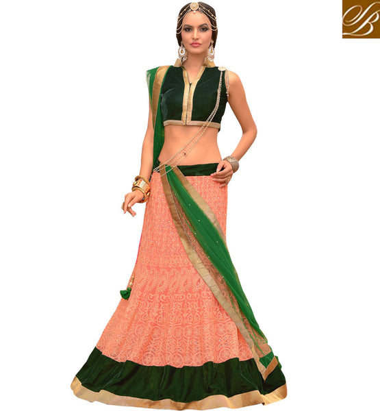 GRACEFUL UP-MARKET INDIAN GHAGRA CHOLI WITH CHUNARI ONLINE SHOPPING