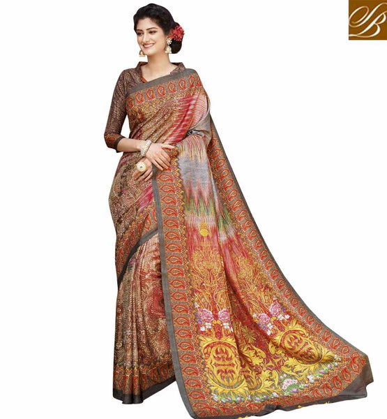 STYLISH BAZAAR SUBLIME INDIAN PARTY WEAR SARI BLOUSE FASHION ONLINE RTATC15834
